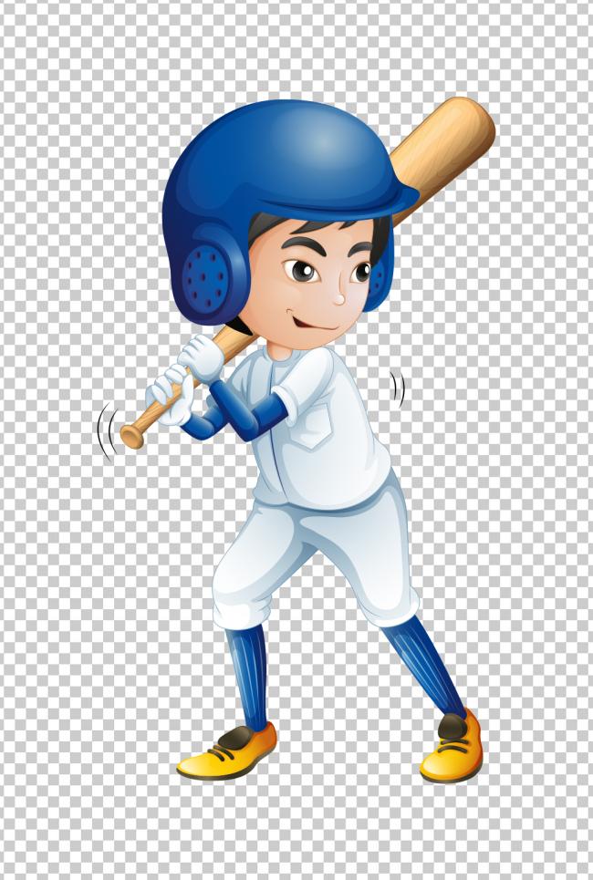 免抠元素 人物形象 儿童 > 可爱卡通运动小孩打棒球  版权图片 设计师