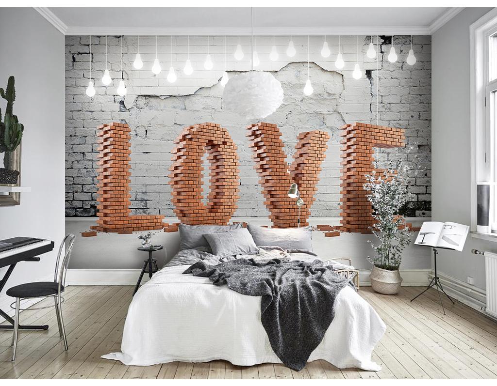 love浪漫爱情北欧背景墙背景画图片