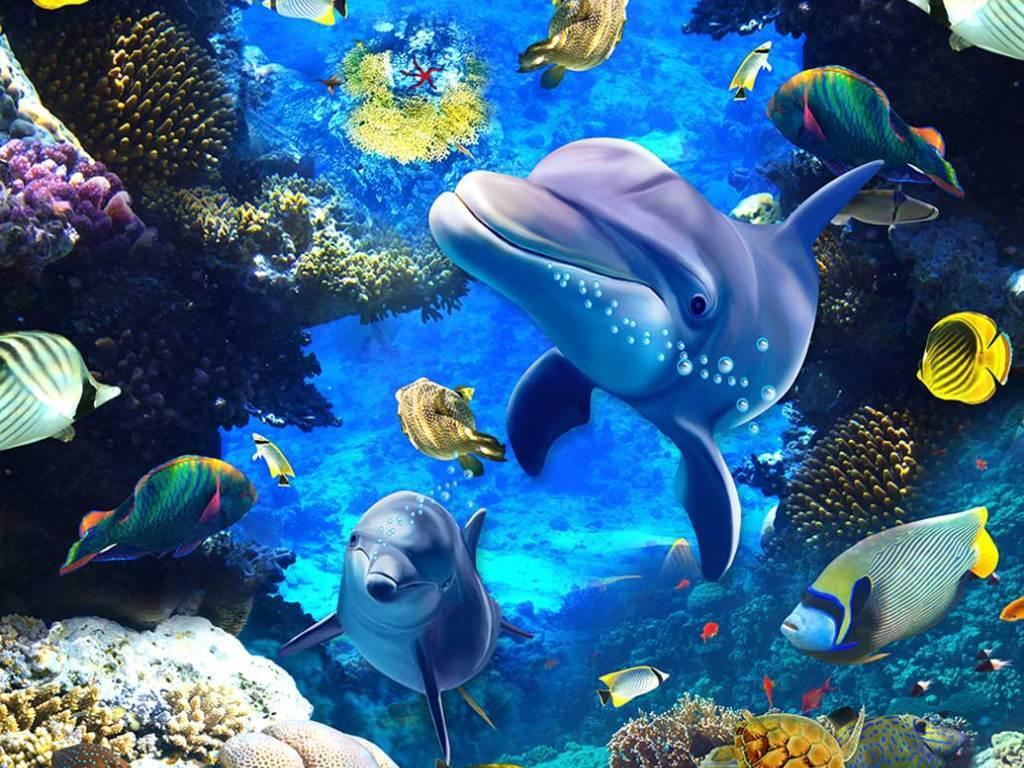 海底世界3d立体地画地贴图片