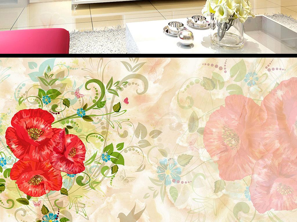 花卉橱窗设计手绘图
