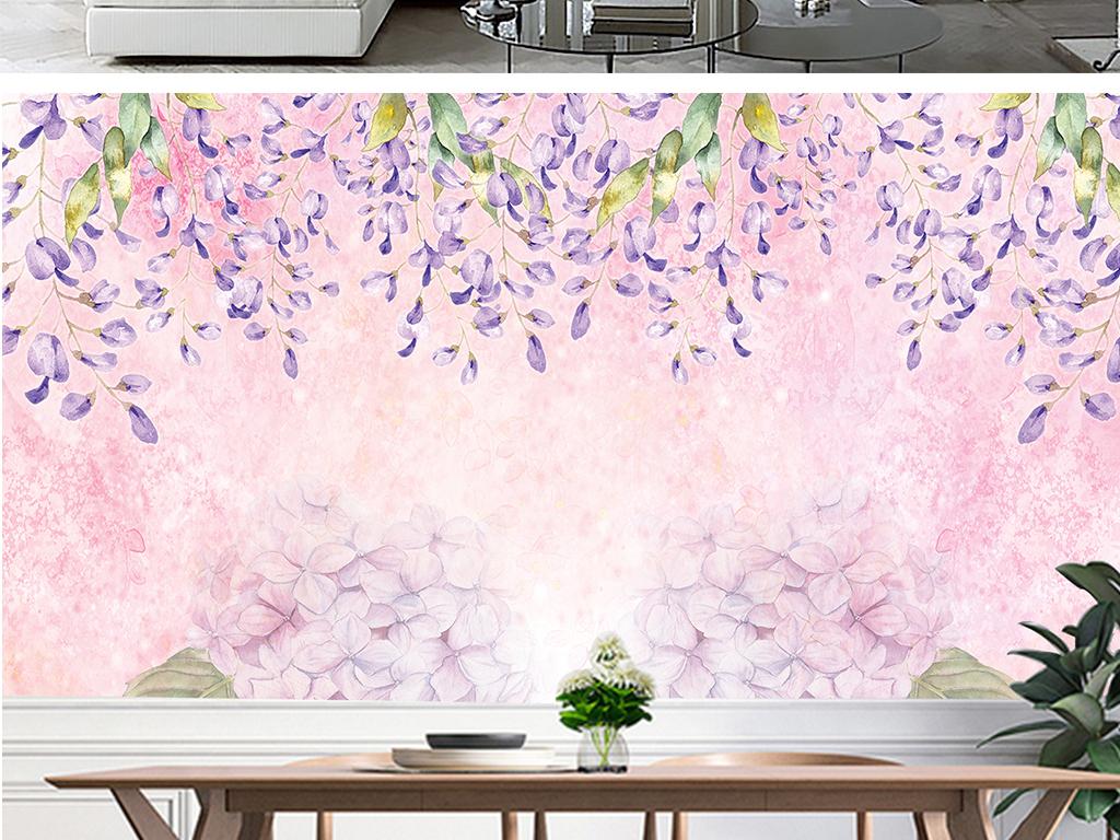 室内装饰画雏菊花卉手绘水粉背景背景浪漫花卉手绘花卉手绘背景浪漫