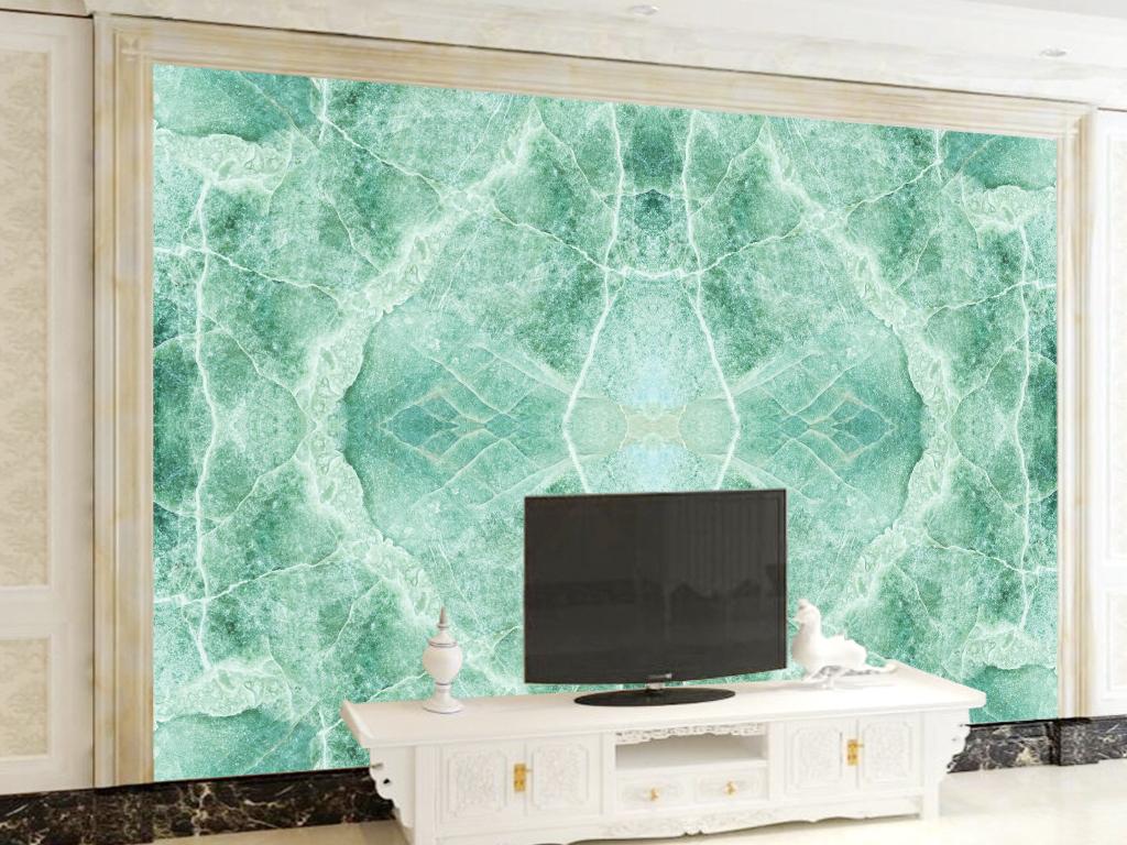 欧式电视机上方壁画
