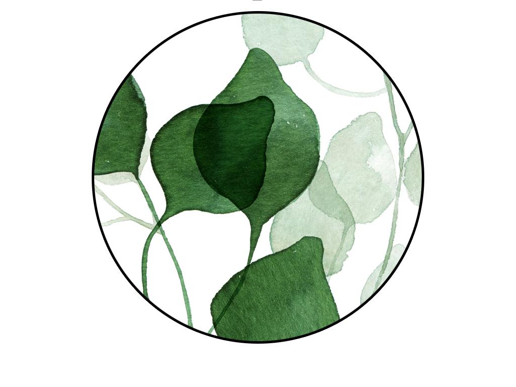 植物清新自然树叶无框装饰画背景墙