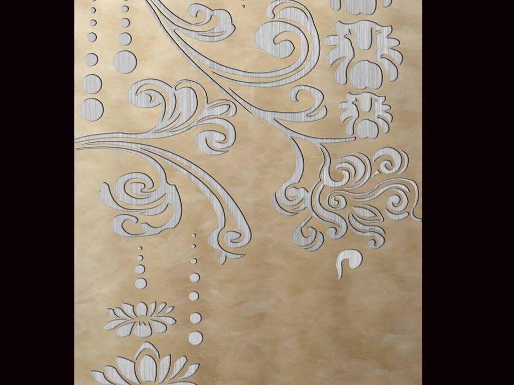 影视墙迎门墙手绘油画田园欧美别墅全景玄关欧式图片