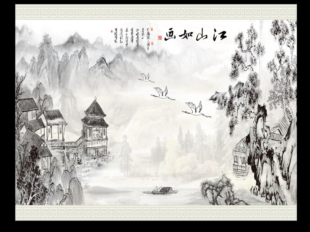 江山如画 15908277 电视背景墙
