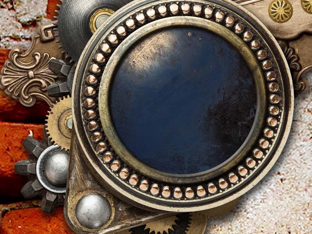 欧式复古机械传动齿轮酒吧背景墙电视背景墙图片玻