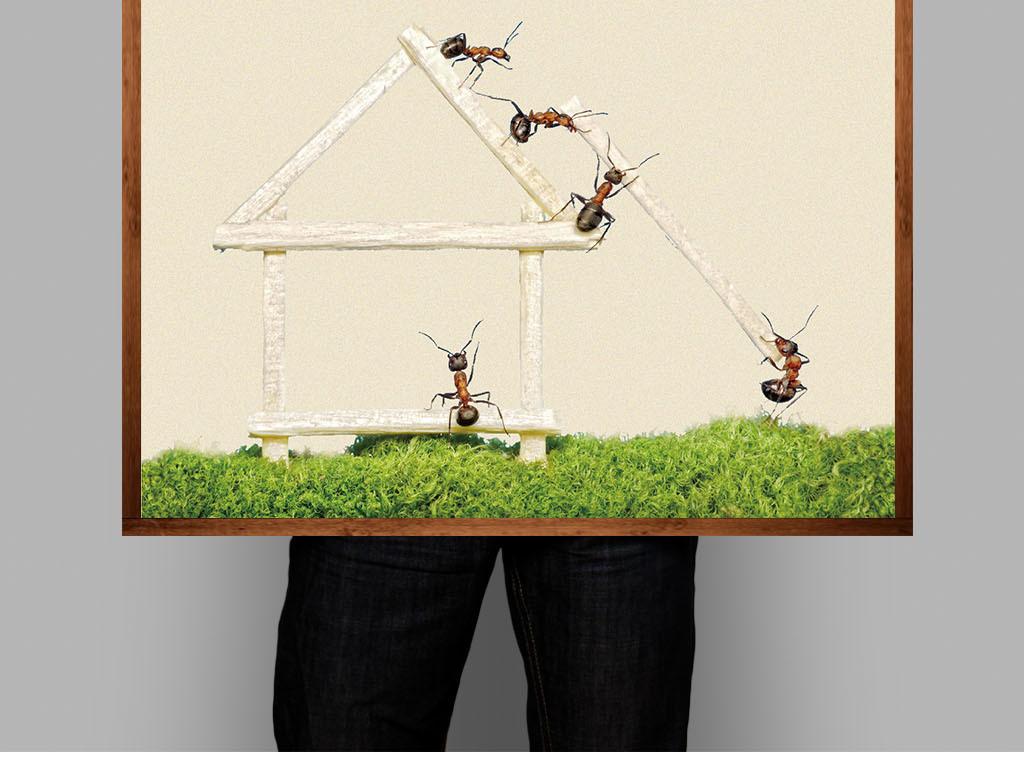 宣传画装饰画手绘创意协作激励标语形象管理理念精文化企业励志企业