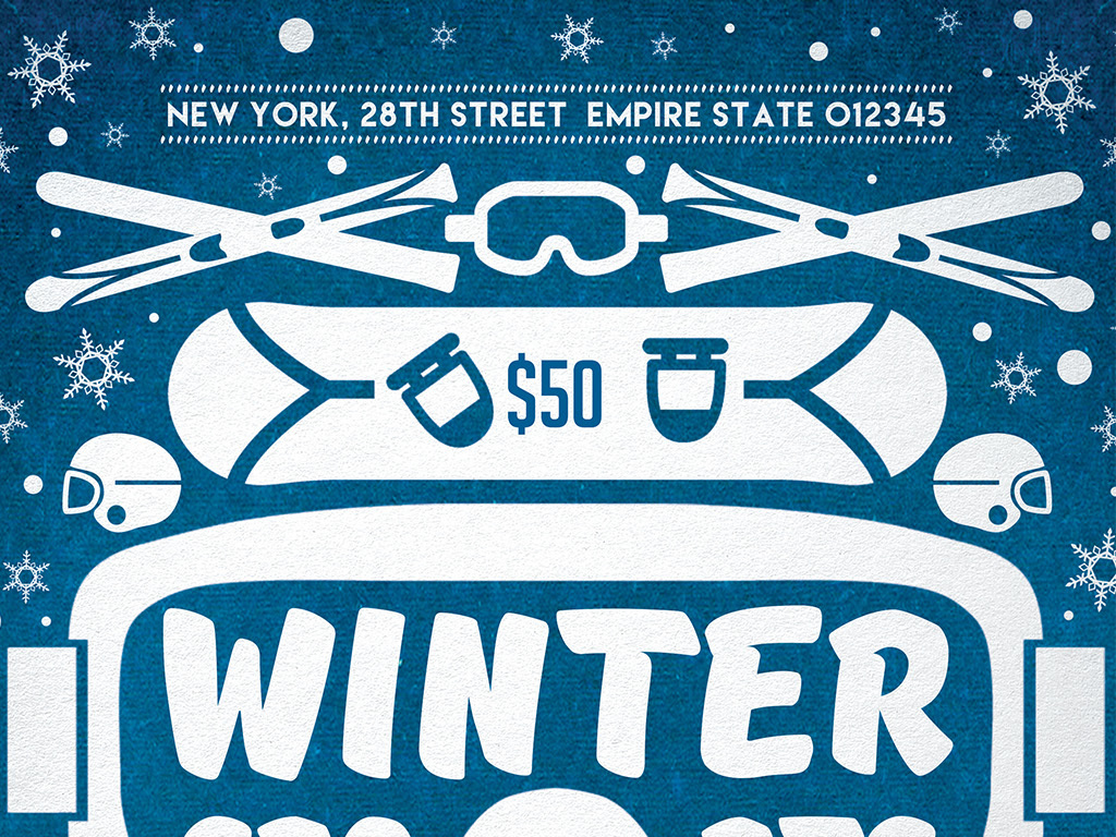 冬季运动会冰球冰雪节创意海报