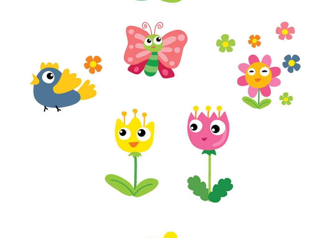 精美卡通可爱矢量昆虫小动物素材设计图片