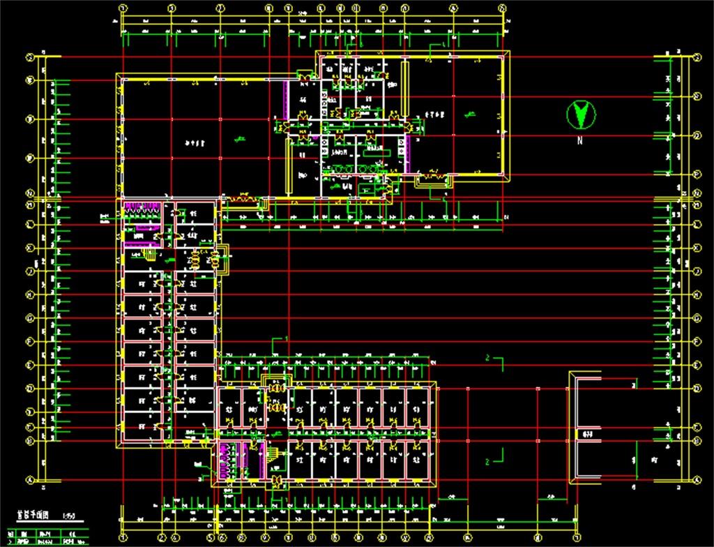 学校建筑施工CAD总平面图