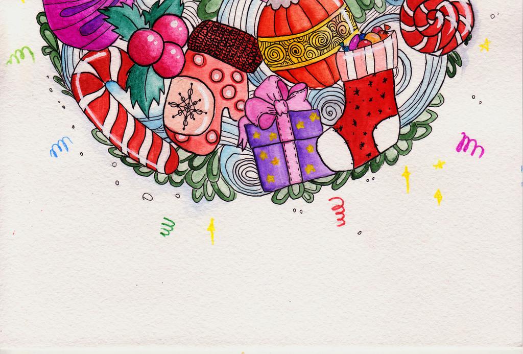 手绘文艺水彩卡通圣诞节新年活动创意海报图片设计_(.图片
