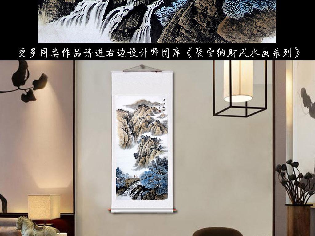 玄关现代装饰画手绘背景墙油画手绘图聚宝盆高清图片高清图片素材高清
