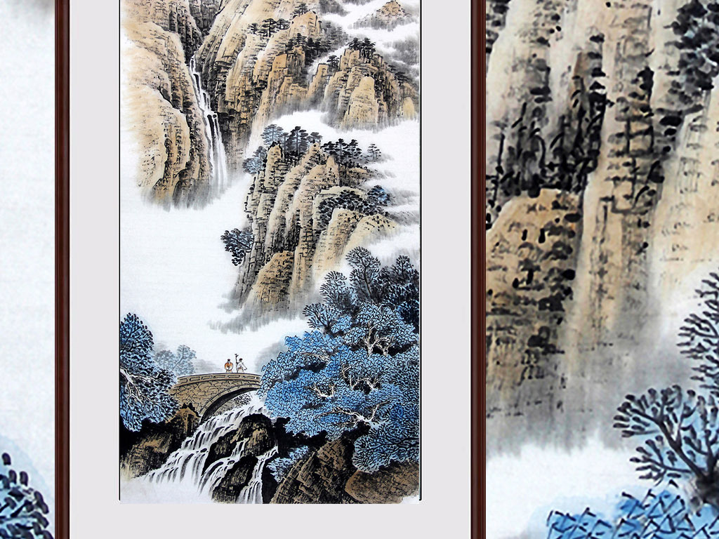 风水画画芯欧式玄关现代装饰画手绘背景墙油画手绘图