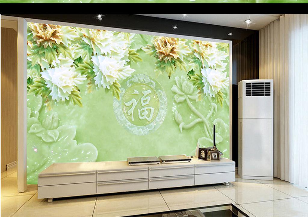 客厅背景墙花客厅沙发背景墙墙画图片5