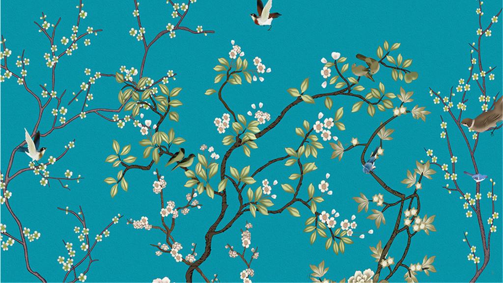 素雅梅花中式梅花画中式窗花中式婚礼中式背景墙中式电视背景墙中式图片