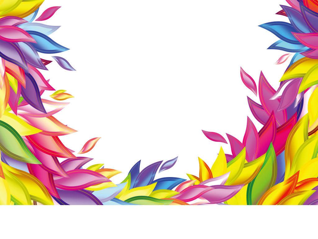 设计元素 背景素材 其他 > 手绘花朵花纹底纹装饰边框