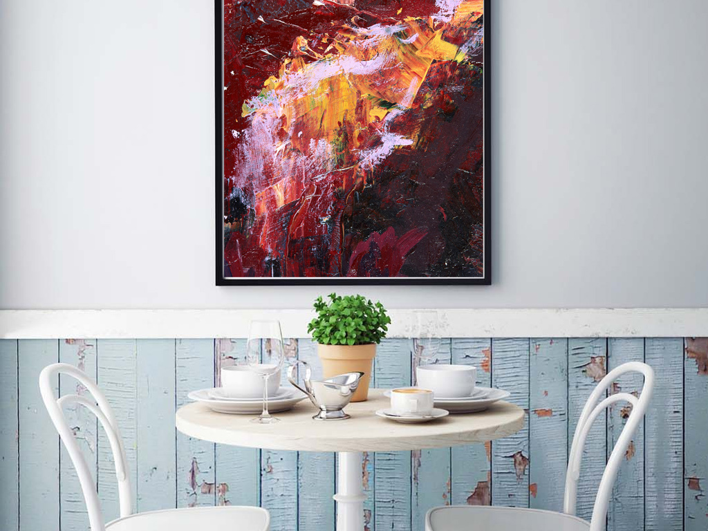 欧风格现代简约油画抽象油画客厅卧室画