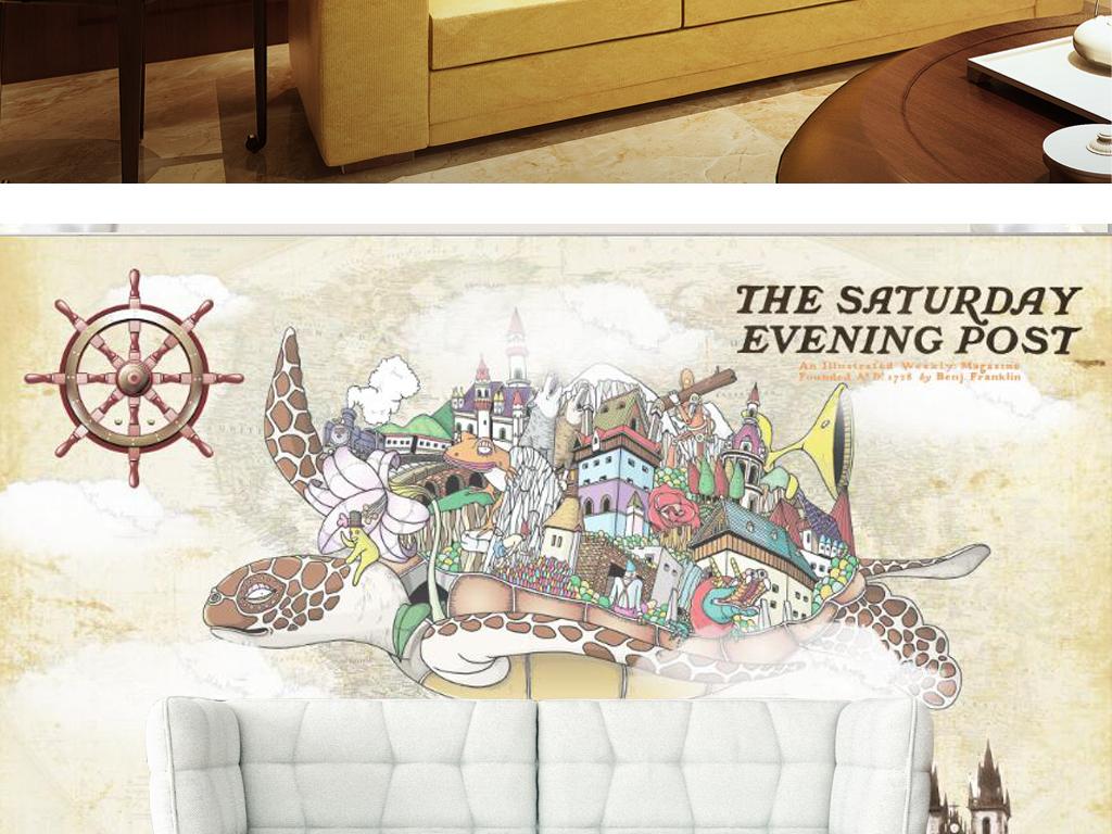 城堡热气球卡通背景手绘背景卡通手绘手绘卡通儿童卡通卡通儿童飞翔乌