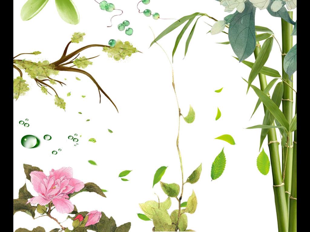 春天桃花手绘图