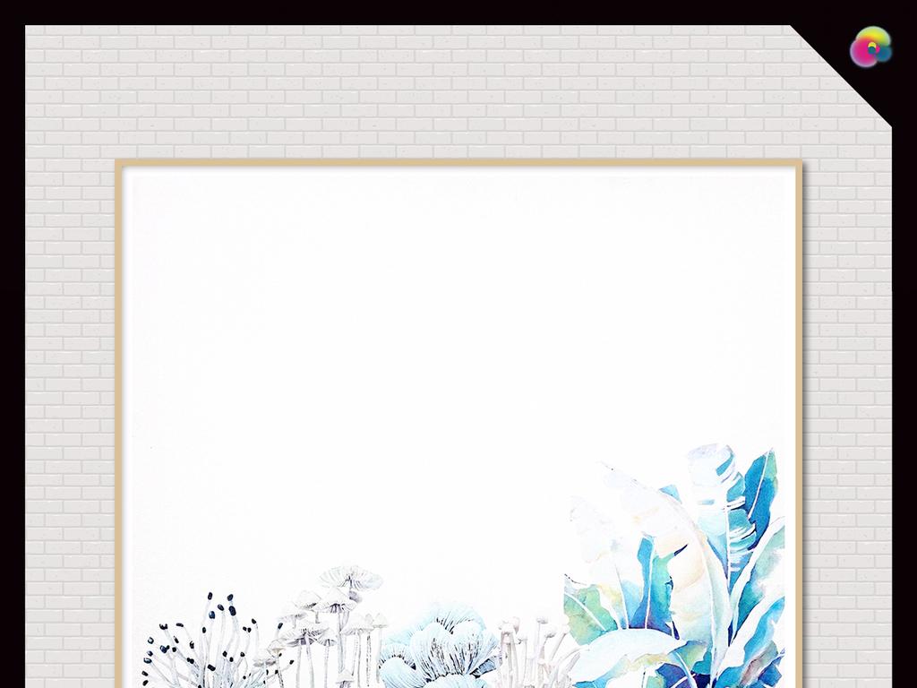 文艺个性温馨优雅花卉手绘花卉手绘背景唯美背景白色白色背景花卉背景
