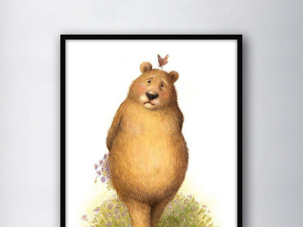 熊北欧简约                                  小清新手绘