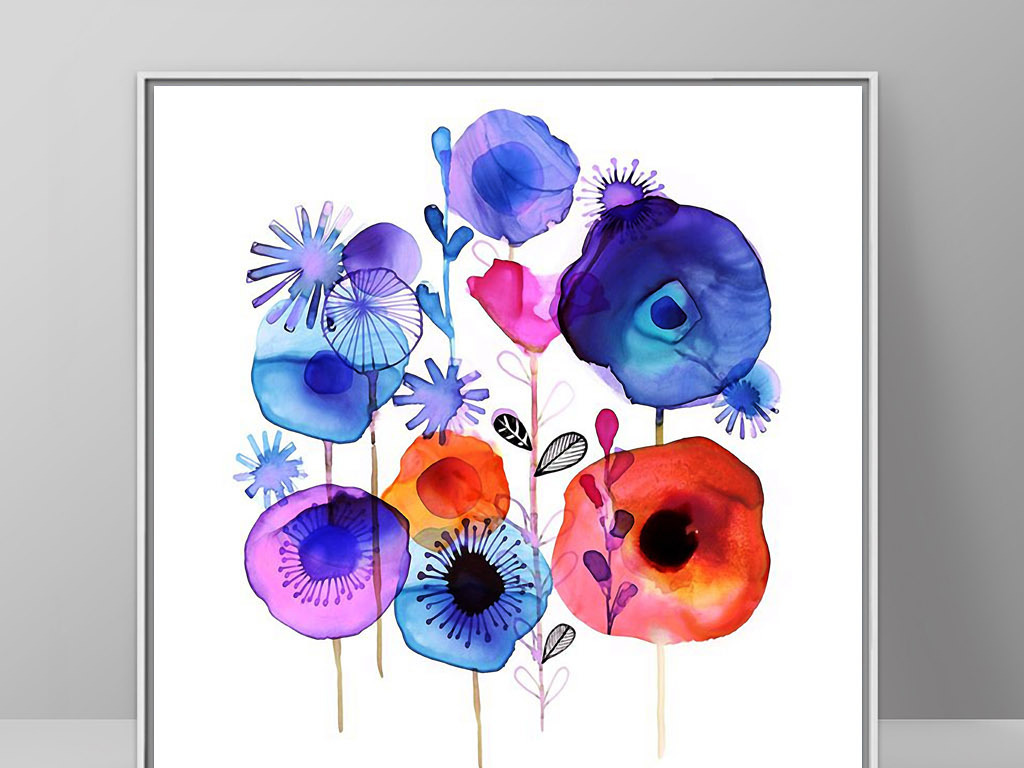 植物花卉无框画