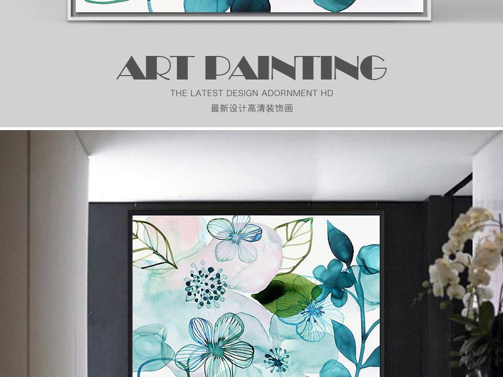 挂画画芯图片花卉欧式风格手绘花卉水彩水彩花卉地