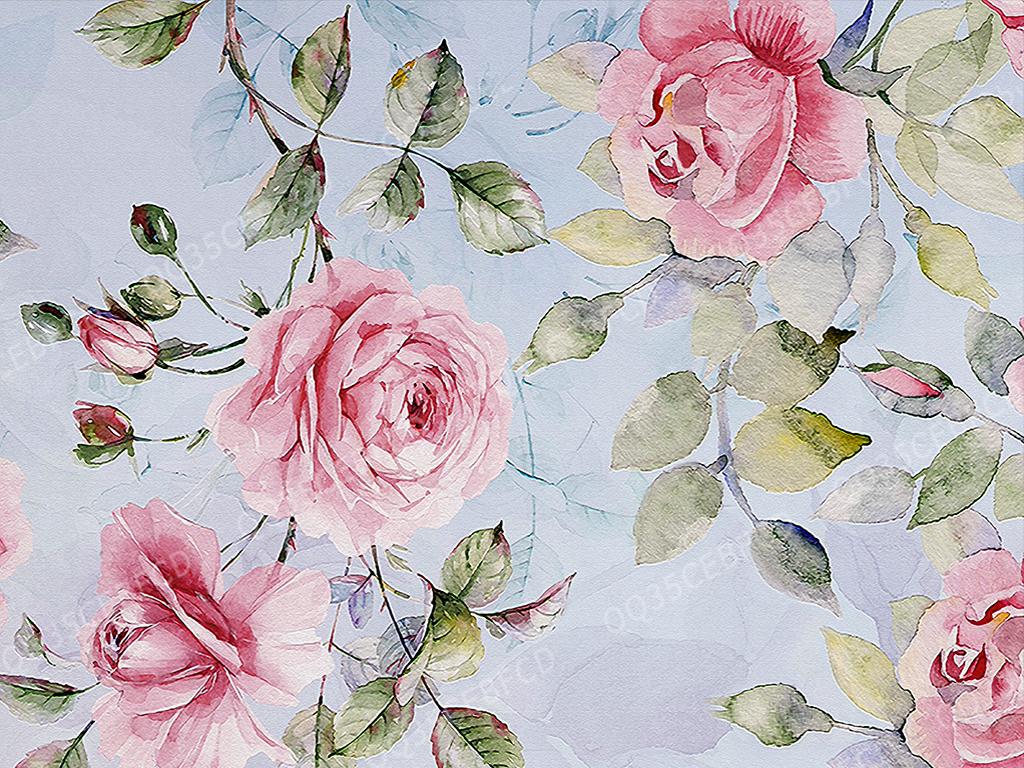 玫瑰花墙纸图案设计(图片编号:15918270)