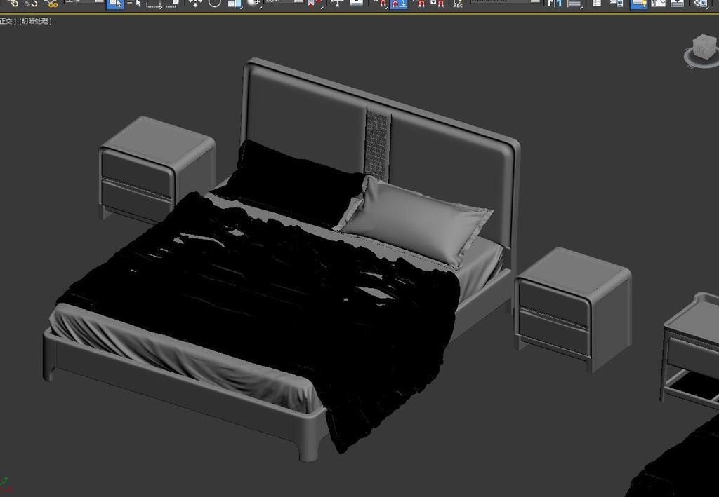 2015新款现代实木床3DMAX模型图片下载max素材 床
