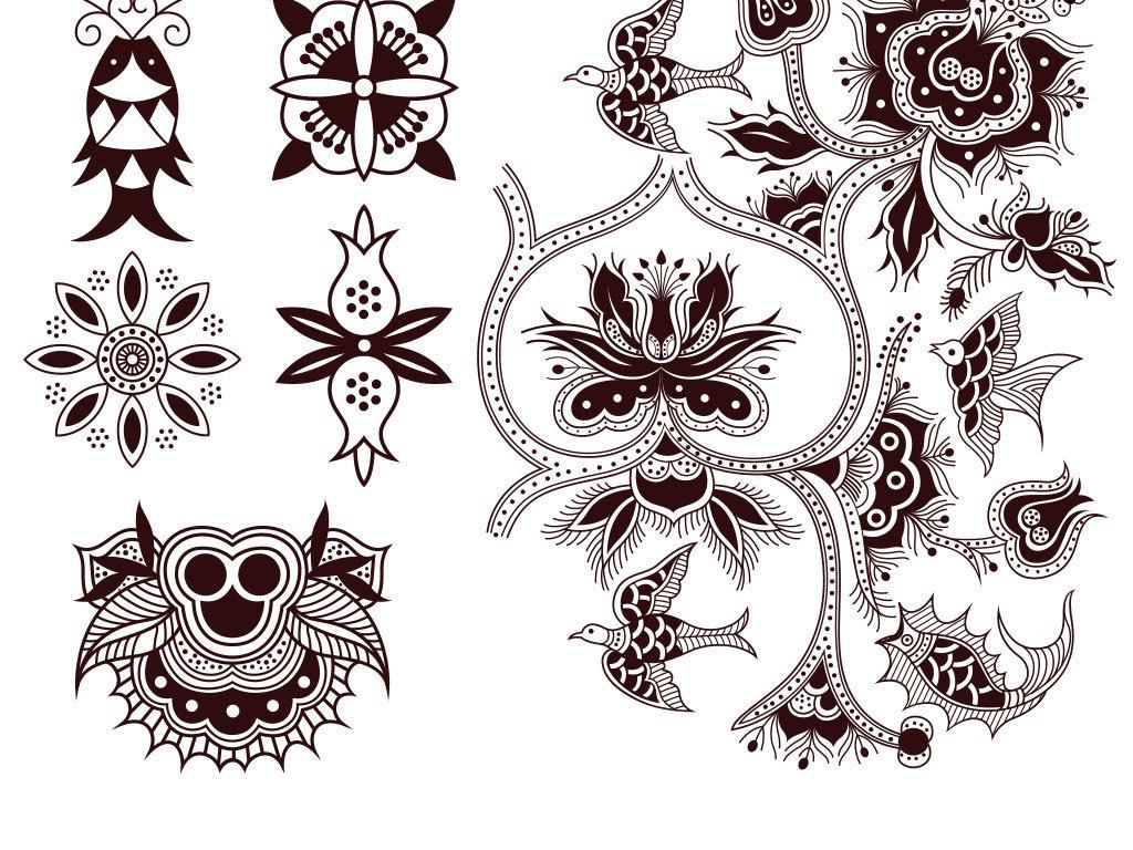 我图网提供精品流行欧式花纹底纹边框矢量图素材下载,作品模板源文件图片