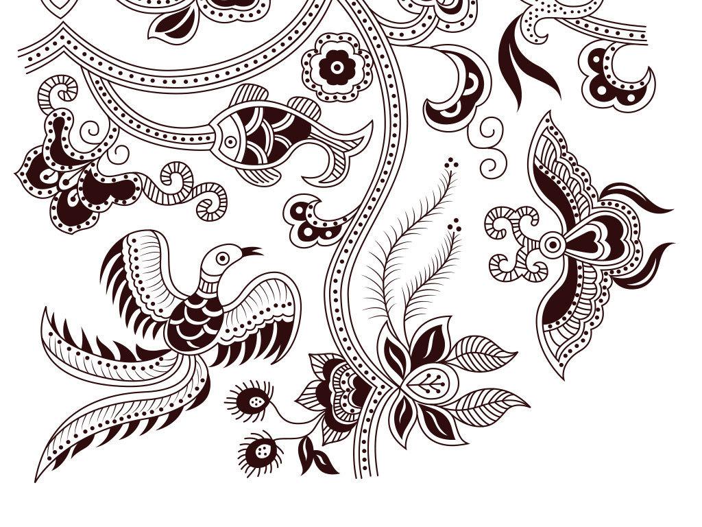 我图网提供精品流行欧式花纹底纹装饰矢量图素材下载,作品模板源文件图片