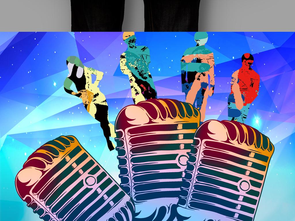 演讲比赛挑战麦克风宣传海报主持人大赛图片