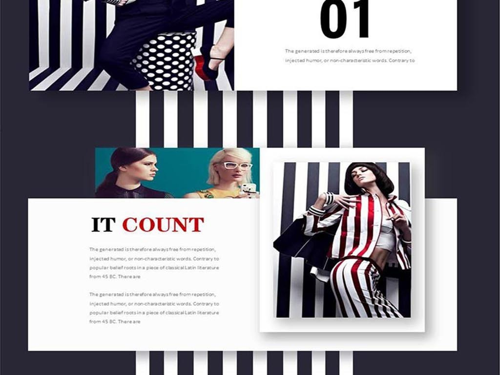 创意高端顶级时装服装秀品牌服装时装ppt模板图片