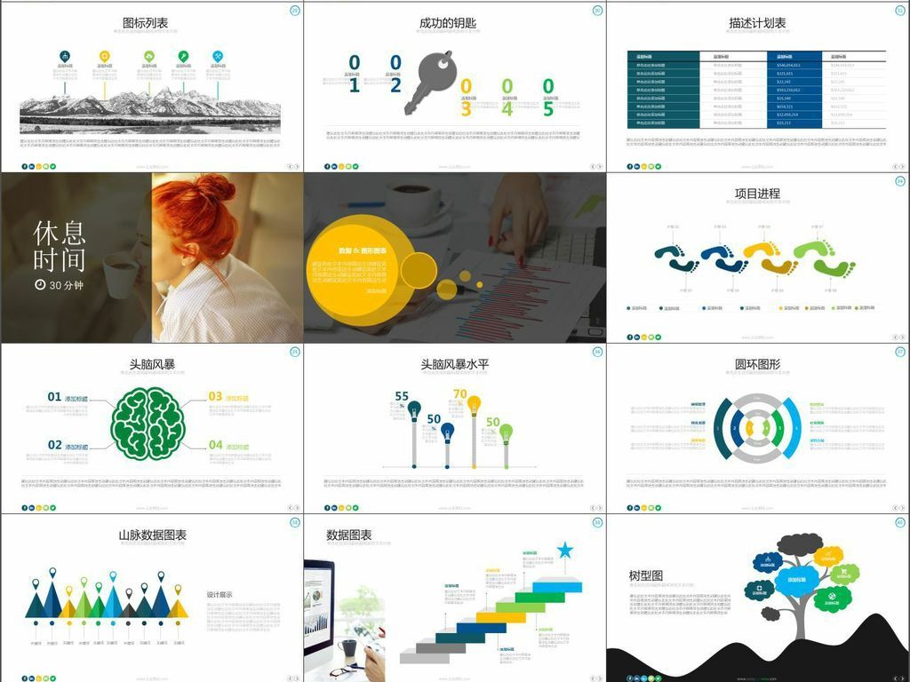 商务企业项目进度总结汇报PPT模板