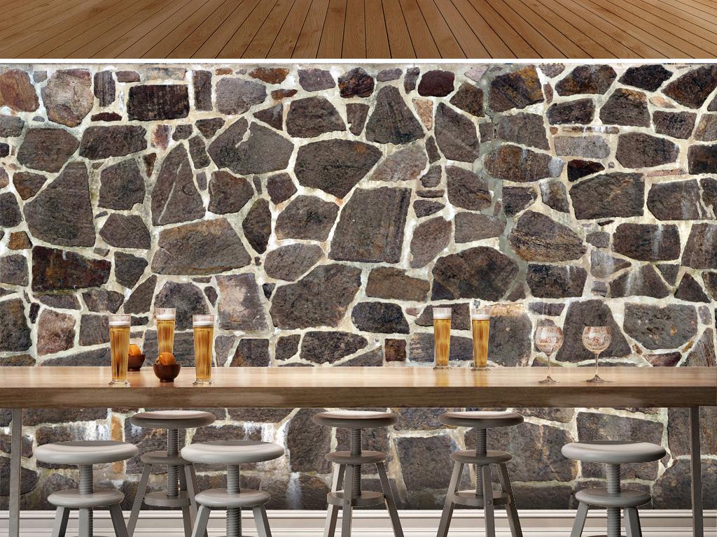 格3d背景墙艺术壁纸工业风