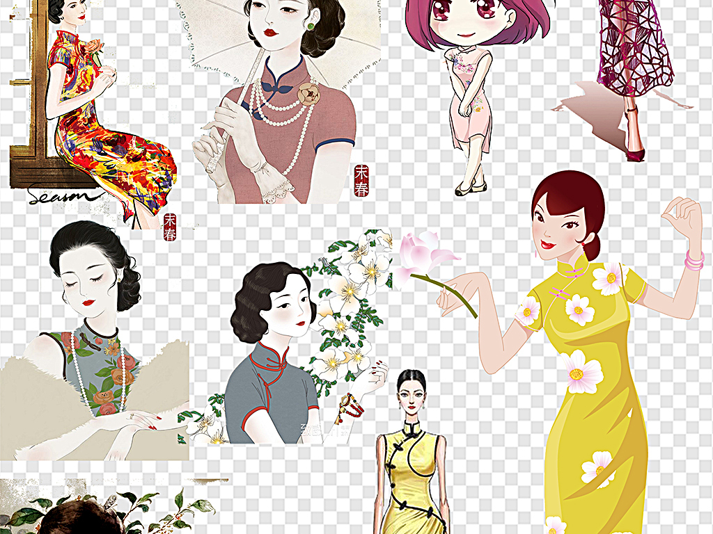 中国旗袍旗袍女性旗袍美女