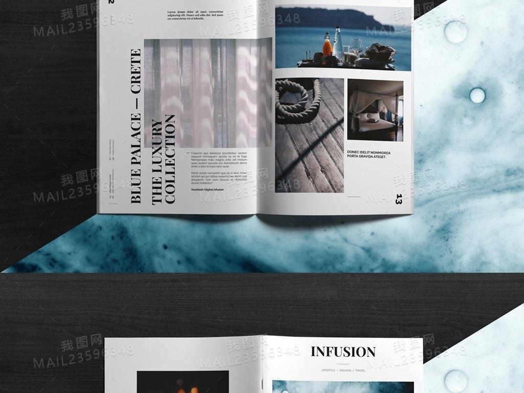 id模板潮流时尚优雅时尚杂志排版杂志时尚杂志模板杂志模板简约时尚图片