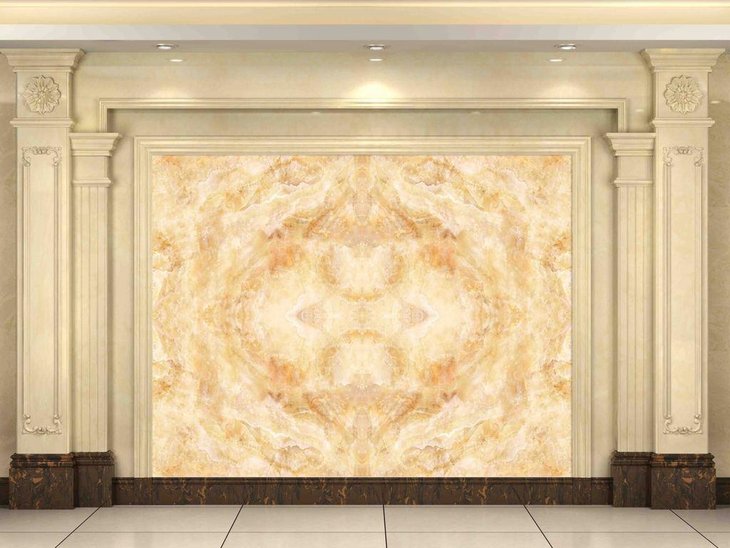 高端大理石沙发背景墙图片