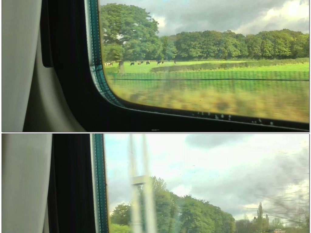 火车窗外的风景