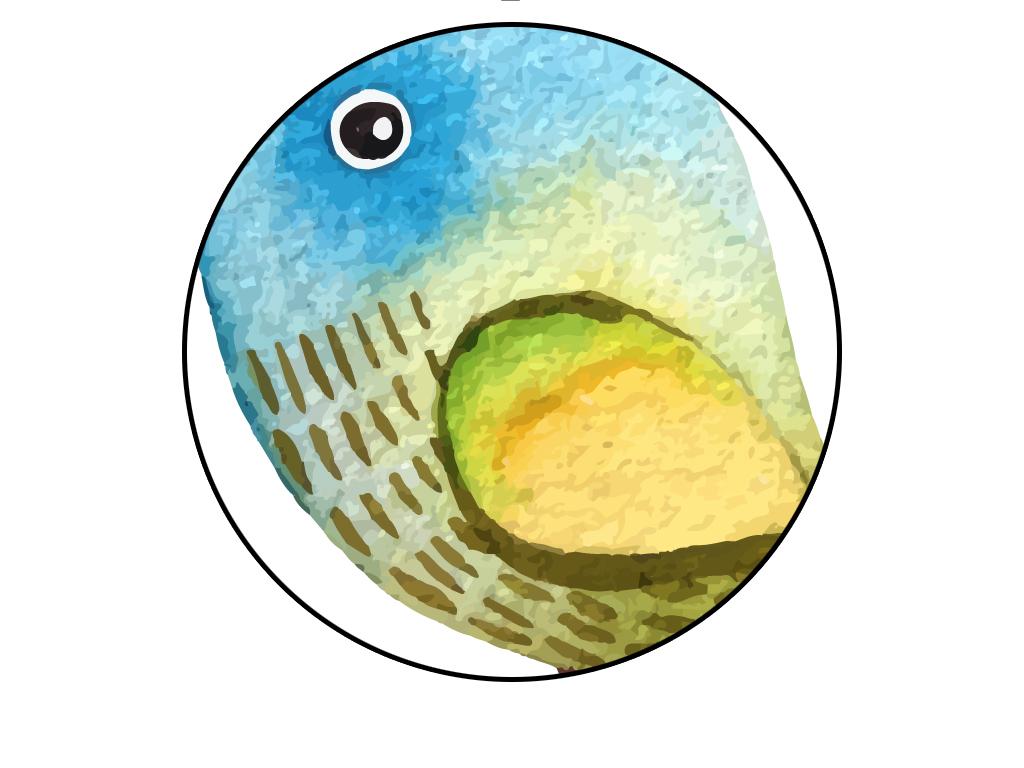 手绘小鸟无框装饰画