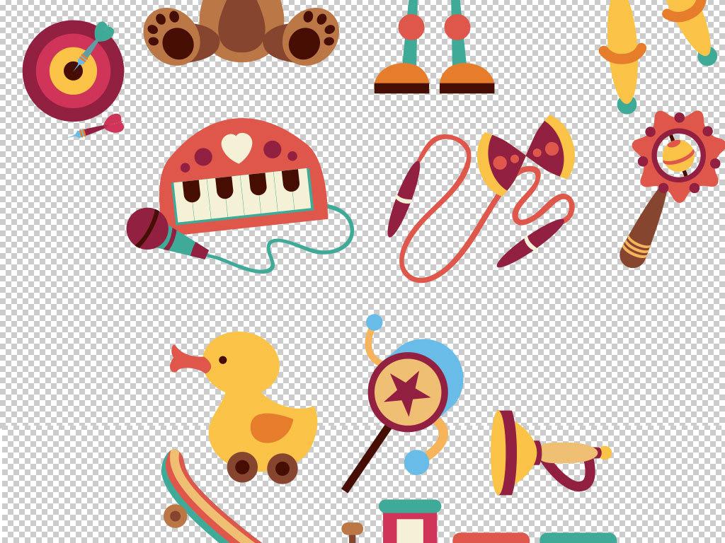 图片彩色铅笔学校木马兔玩具玩具熊动物熊爱心ps