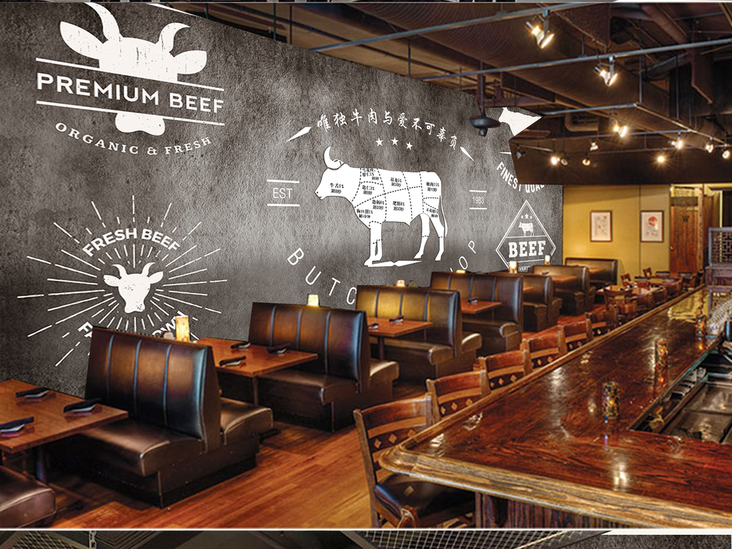我图网提供精品流行水泥墙手绘牛排西餐厅自助餐厅烤肉背景装饰墙素材下载,作品模板源文件可以编辑替换,设计作品简介: 水泥墙手绘牛排西餐厅自助餐厅烤肉背景装饰墙 位图, RGB格式高清大图,使用软件为 Photoshop CS6(.psd)