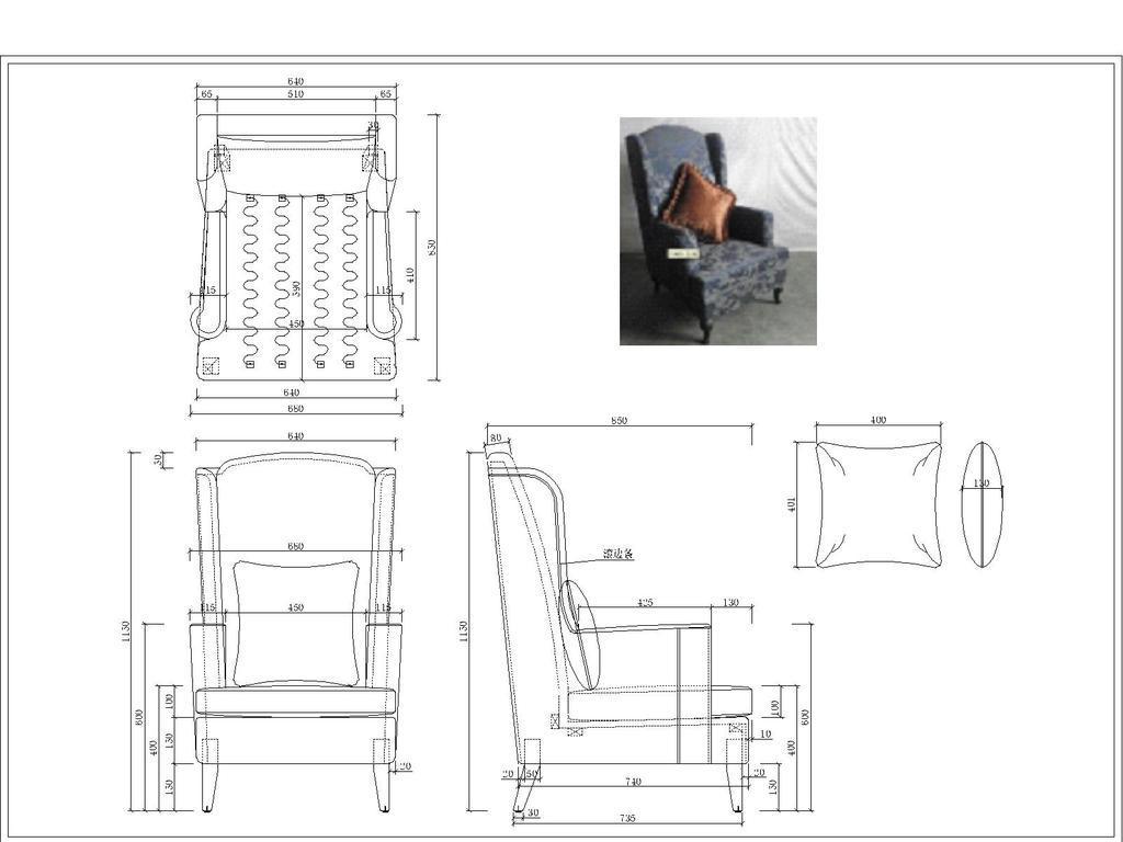cad图库 家具设计图纸 椅子图纸 > 办公椅及休闲单人沙发  版权图片
