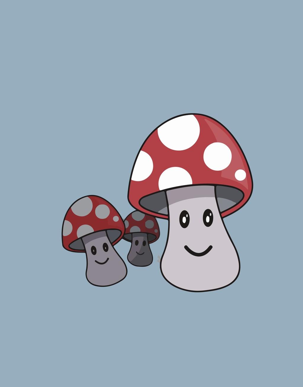 卡通图案插画装饰插画蘑菇图片设计素材 高清其他模板下载 0.24MB