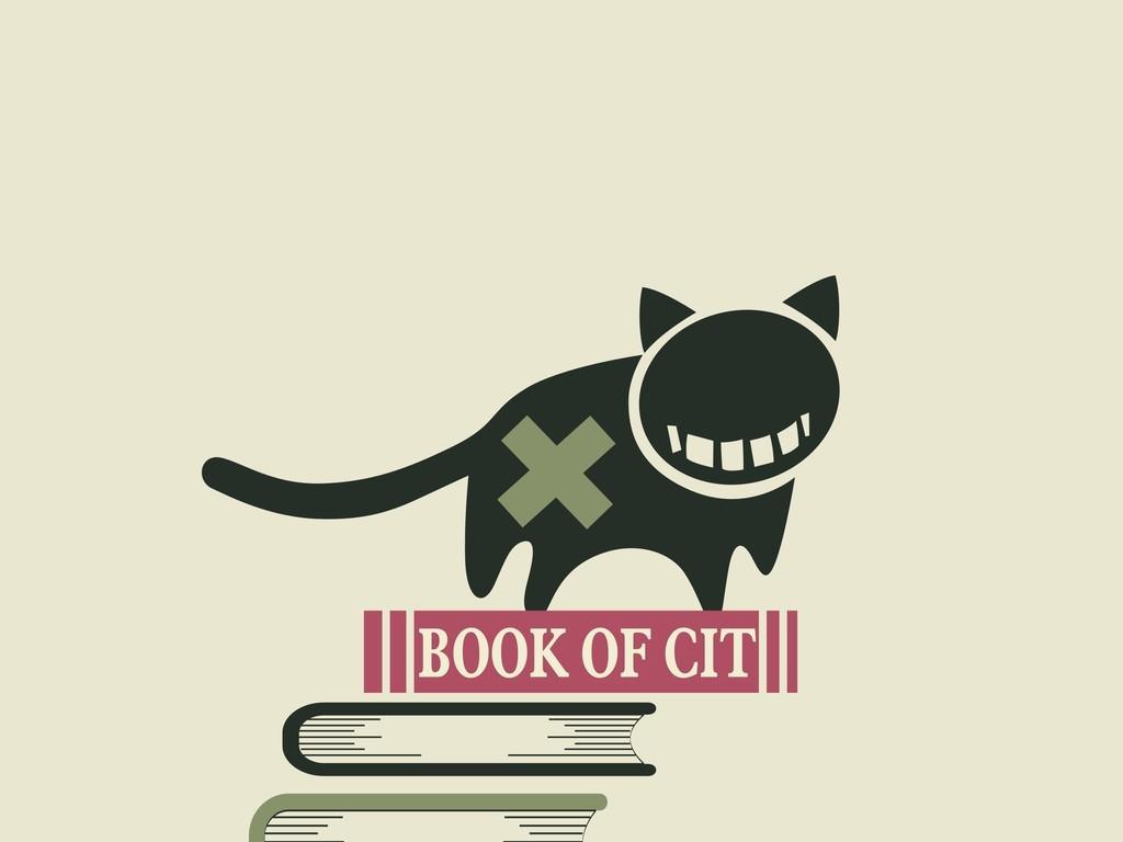 卡通图案插画装饰画插画猫咪书籍
