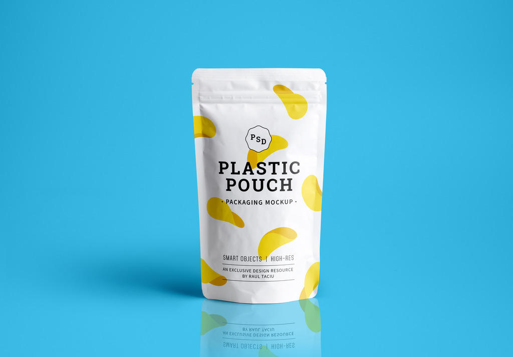 新款塑料袋包装展示psd模板