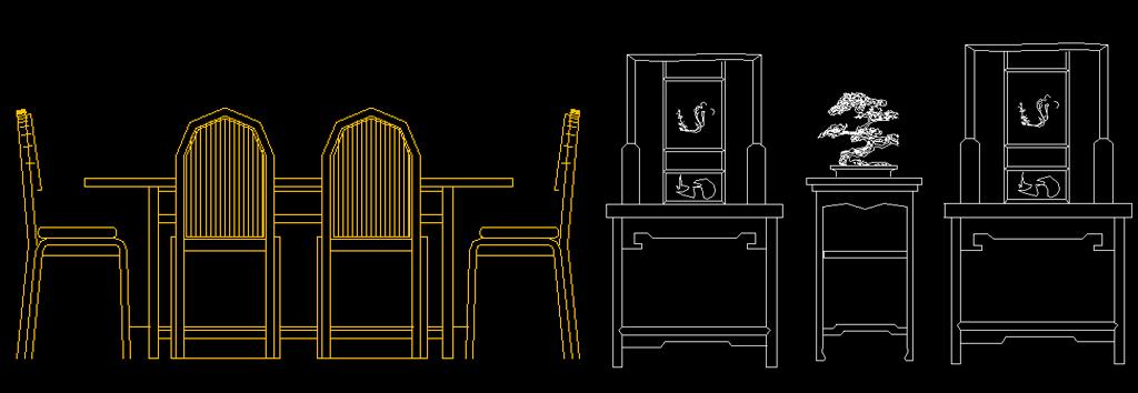 座椅cad仿古家具cad中式家具cad欧式家具cad家具立面图常用图块cad