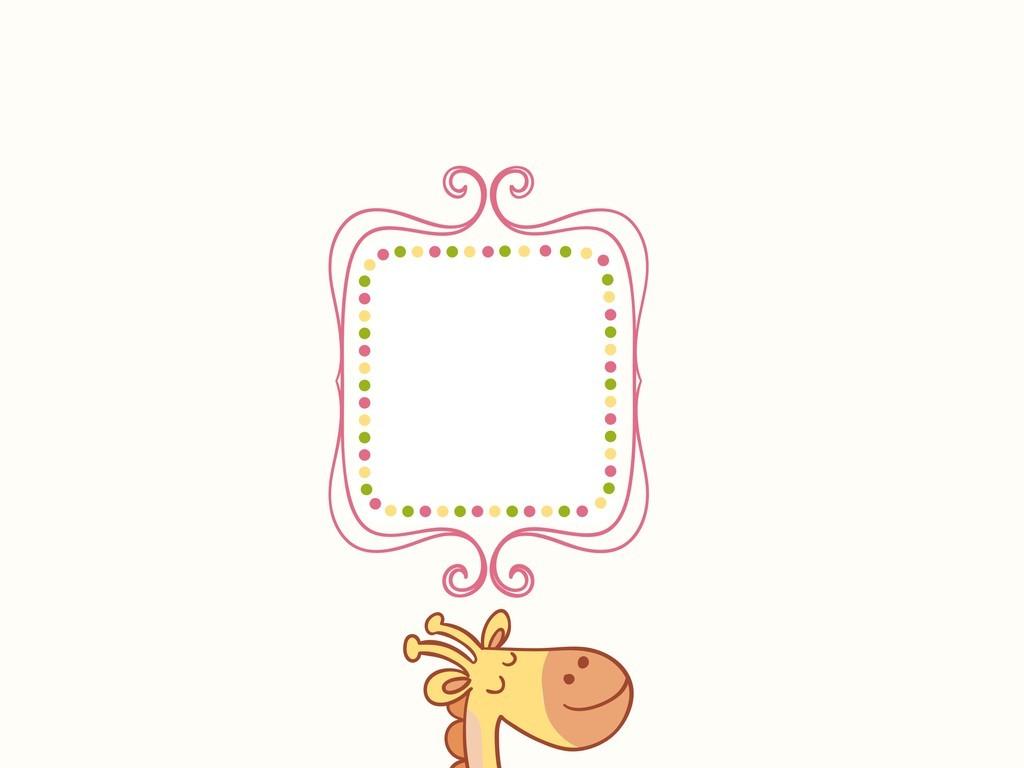 长颈鹿卡通图案插画装饰画(图片编号:15925003)_动物