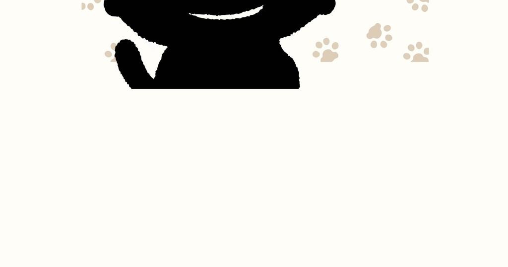 猫咪卡通图案插画装饰画猫爪印