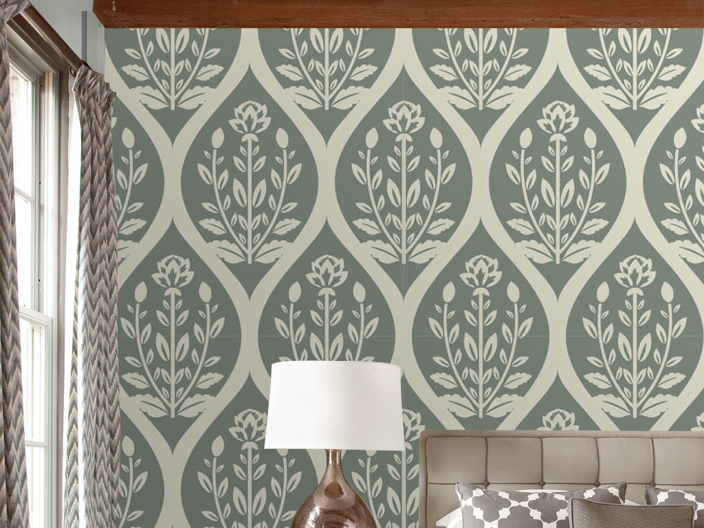 设计作品简介: 欧式淡雅复古无缝花纹墙纸 矢量图, rgb格式高清大图图片